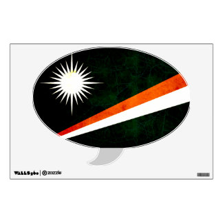 Modern Edgy Marshallese Flag Wall Sticker