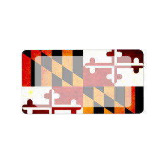 Modern Edgy Marylander Flag Custom Address Labels
