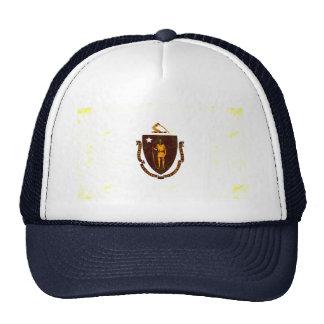 Modern Edgy Massachusettsan Flag Trucker Hat