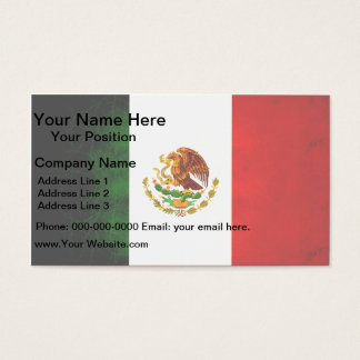 Modern Edgy Mexican Flag Business Card