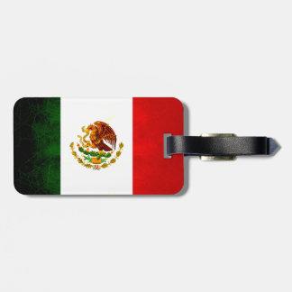 Modern Edgy Mexican Flag Bag Tags
