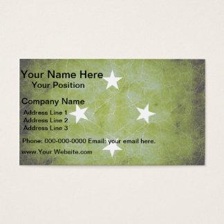 Modern Edgy Micronesian Flag Business Card