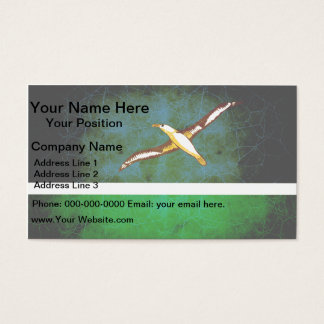 Modern Edgy Midwayer Flag Business Card