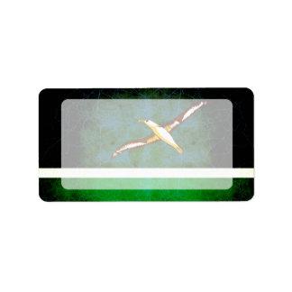 Modern Edgy Midwayer Flag Address Label