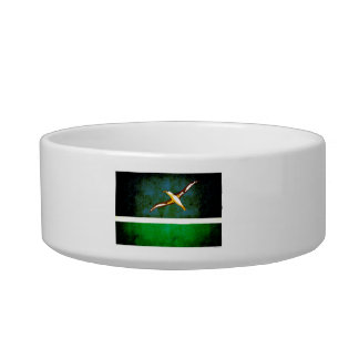Modern Edgy Midwayer Flag Pet Water Bowls