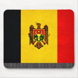 Modern Edgy Moldovan Flag Mouse Pad