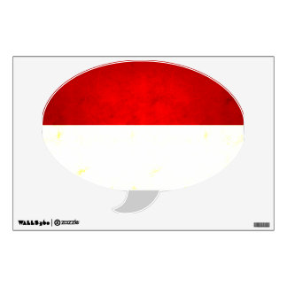 Modern Edgy Monacan Flag Wall Sticker