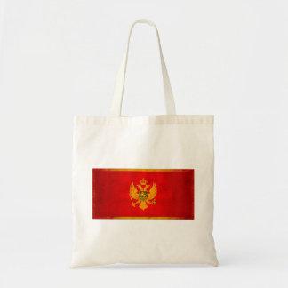Modern Edgy Montenegrin Flag Tote Bag