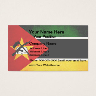 Modern Edgy Mozambican Flag Business Card