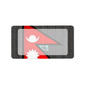 Modern Edgy Nepalese Flag Address Label
