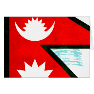 Modern Edgy Nepalese Flag Greeting Card