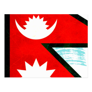 Modern Edgy Nepalese Flag Postcards
