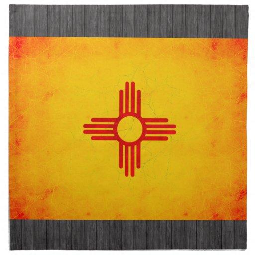 Modern Edgy New Mexican Flag Cloth Napkin