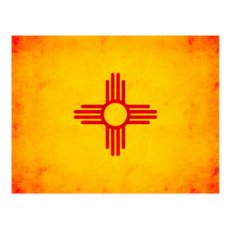 Modern Edgy New Mexican Flag Postcard
