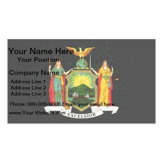 Modern Edgy New Yorker Flag Double-Sided Standard Business Cards (Pack Of 100)