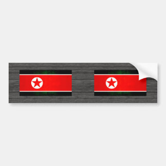 Modern Edgy North Korean Flag Bumper Stickers