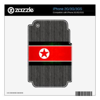 Modern Edgy North Korean Flag iPhone 3GS Skin