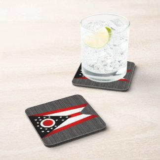 Modern Edgy Ohioan Flag Drink Coasters