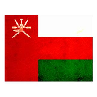 Modern Edgy Omani Flag Postcard