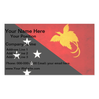 Modern Edgy Papua New Guinean Flag Business Cards