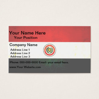 Modern Edgy Paraguayan Flag Business Card