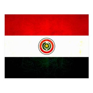 Modern Edgy Paraguayan Flag Postcard