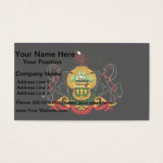 Modern Edgy Pennsylvanian Flag Business Card