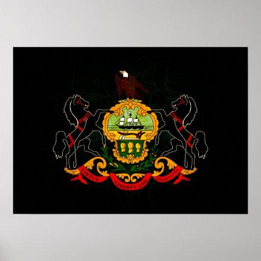Modern Edgy Pennsylvanian Flag Poster