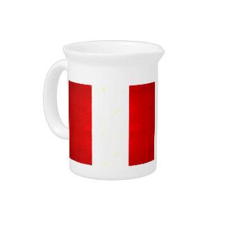 Modern Edgy Peruvian Flag Drink Pitchers