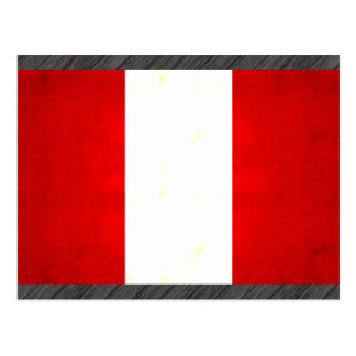 Modern Edgy Peruvian Flag Postcard