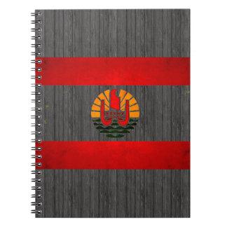 Modern Edgy Polynesian Flag Notebook