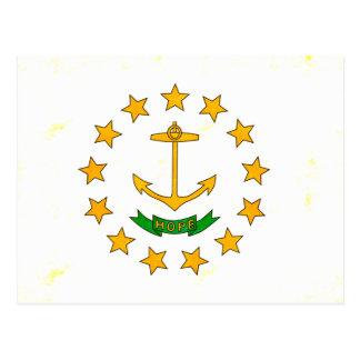 Modern Edgy Rhode Islander Flag Postcard