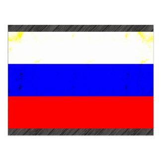 Modern Edgy Russian Flag Postcard