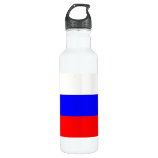 Modern Edgy Russian Flag Stainless Steel Water Bottle