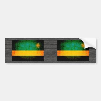 Modern Edgy Rwandan Flag Car Bumper Sticker