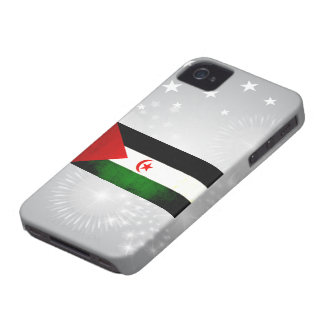 Modern Edgy Sahrawi Flag iPhone 4 Case