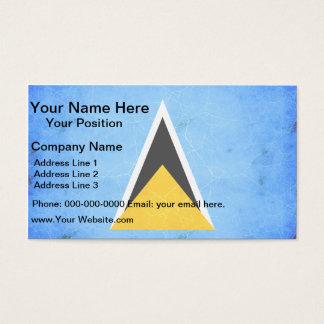 Modern Edgy Saint Lucian Flag Business Card