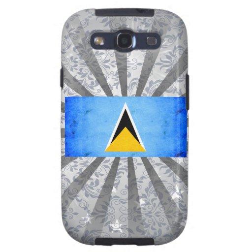 Modern Edgy Saint Lucian Flag Galaxy S3 Case