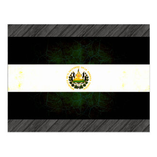 Modern Edgy Salvadoran Flag Postcard