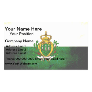 Modern Edgy Sammarinese Flag Business Card