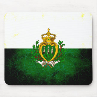 Modern Edgy Sammarinese Flag Mouse Pad
