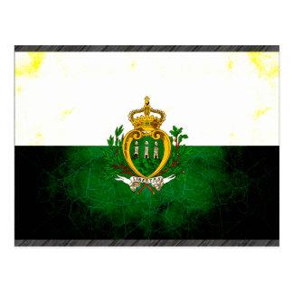 Modern Edgy Sammarinese Flag Postcard