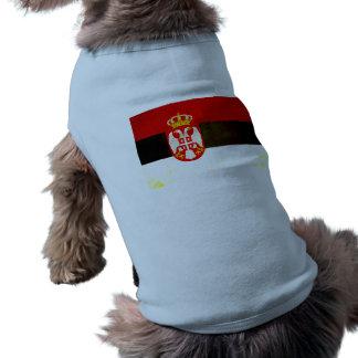 Modern Edgy Serbian Flag Dog Clothing