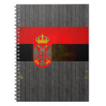 Modern Edgy Serbian Flag Spiral Note Book