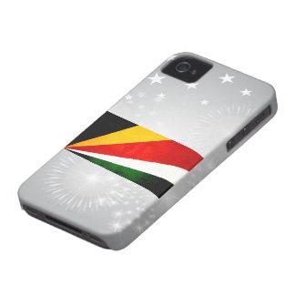 Modern Edgy Seychellois Flag iPhone 4 Case