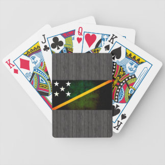 Modern Edgy Solomon Islander Flag Bicycle Playing Cards