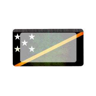 Modern Edgy Solomon Islander Flag Label