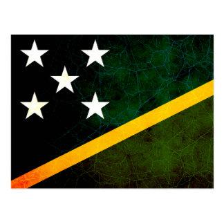 Modern Edgy Solomon Islander Flag Postcard