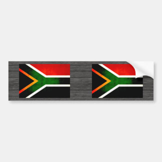 Modern Edgy South African Flag Bumper Stickers