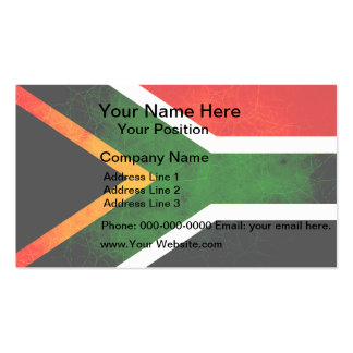 Modern Edgy South African Flag Business Card